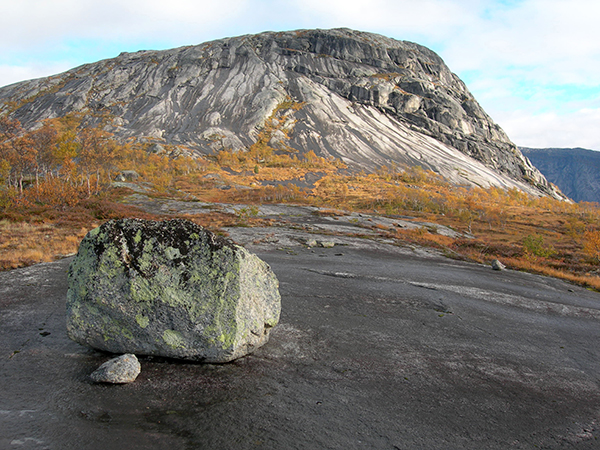 Scenic view of the Tysfjord granite at Memaurvatnet in north Norway, which has elevated REE concentrations.