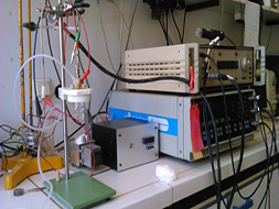 Cyclic voltammetry equipment for the reduction of rare earth metals.